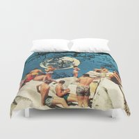 the moon Duvet Covers featuring Moon by Ben Giles