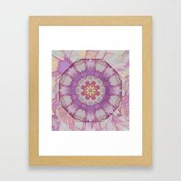 Soft Lavender Floral Kaleioscope Framed Art Print