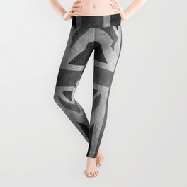 British Union Jack flag in grungy tex Leggings