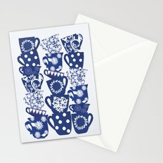 blue teacups Stationery Cards