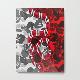 Guci Snake bape Metal Print