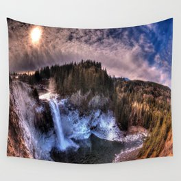 Waterfall from sky view Wall Tapestry