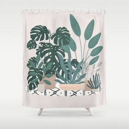 houseplant gang Shower Curtain