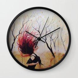 """""""Like a leaf in the wind"""" Wall Clock"""