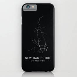 New Hampshire State Road Map iPhone Case