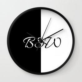 Minimalistic black and white B&W Wall Clock