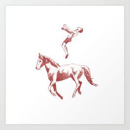 The Jumping Man Art Print
