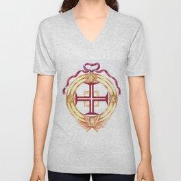 Templar cross. Cruz Templária Unisex V-Neck