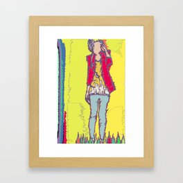 A Yellow Girl Framed Art Print