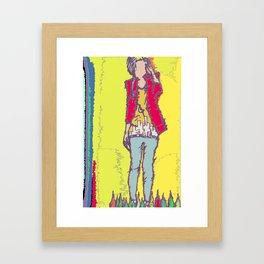 A Yellow Girl Framed Art Print