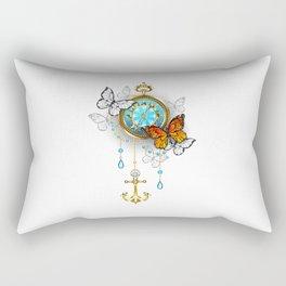 Compass with Butterflies Rectangular Pillow