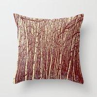 birch Throw Pillows featuring Birch by Indigo Rayz