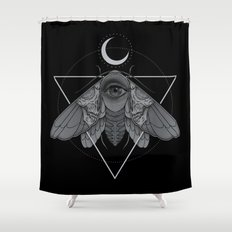Occult Moth Shower Curtain