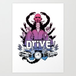 Drive front cover Art Print