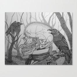 Vacancy of the Mind (VACANCY zine) Canvas Print