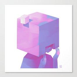 Cube Helmet Canvas Print