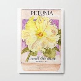 Petunia Seed Packet Metal Print