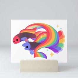 Rainbow guppy 3 Mini Art Print