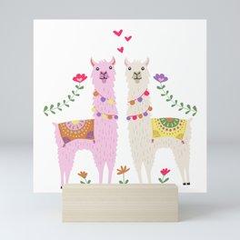 Llama Pattern Mini Art Print