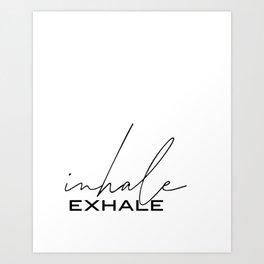 Inhale exhale prints Breathe print Pilates print Pilates art Inhale exhale decor Inhale exhale art I Art Print