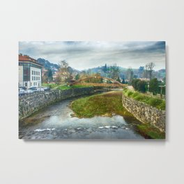 The river Sella and a bridge Metal Print