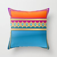 decorative Throw Pillows featuring Decorative by elledeegee