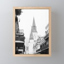 French Quarter Foggy Morning - New Orleans Framed Mini Art Print