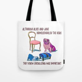 animals with chairs #3 Homeschooling Tote Bag
