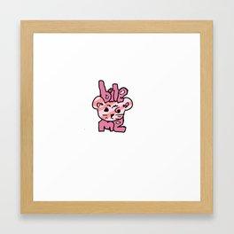 bite me bear Framed Art Print