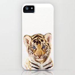Baby Tiger, Baby Animals Art Print By Synplus iPhone Case