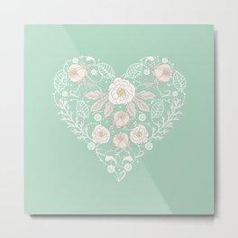 Nebula Pink Heart Metal Print