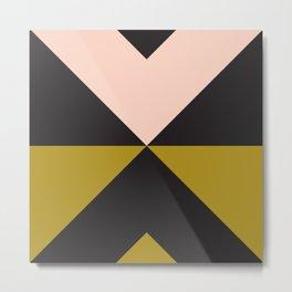 Split X Olive Pink Metal Print