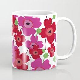 Graphic flowers:Royal red Coffee Mug