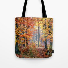 Colorful Autumn Fall Forest Tote Bag