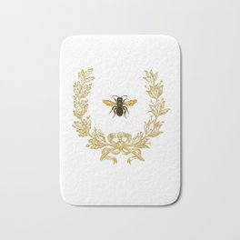 French Bee acorn wreath Bath Mat