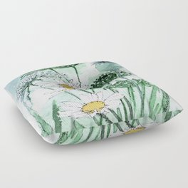 Thistles and Daisies Floor Pillow