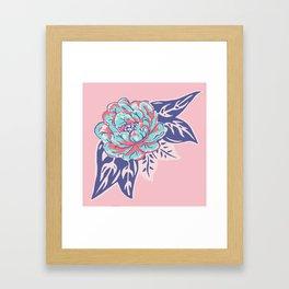 Cabbage Rose Tattoo Flash Framed Art Print