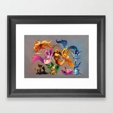 Chibi-lutions Framed Art Print
