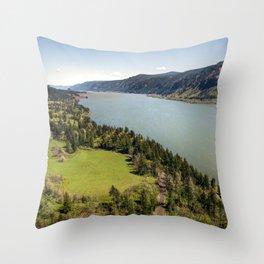 Columbia River Gorge Washington Throw Pillow
