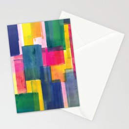 Color Block Series: Rooftops Stationery Cards