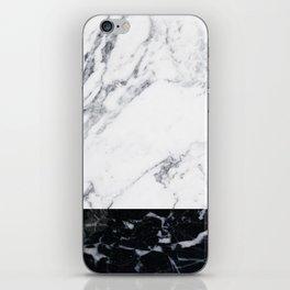 Marble Black & White iPhone Skin