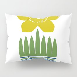 Nordic Yellow Flower Pillow Sham