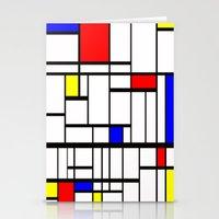 mondrian Stationery Cards featuring Mondrian inspired by Steve W Schwartz Art
