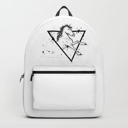 Horse Handmade Drawing, Made in pencil and ink, Tattoo Sketch, Tattoo Flash, Blackwork Backpack