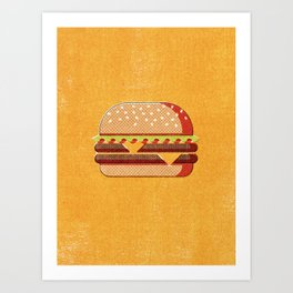 FAST FOOD / Burger Art Print