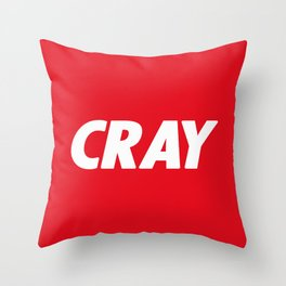 Cray Obey Throw Pillow
