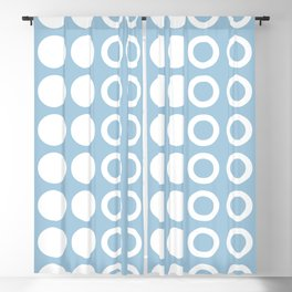 Mid Century Modern Circles And Dots Pale Blue 2 Blackout Curtain
