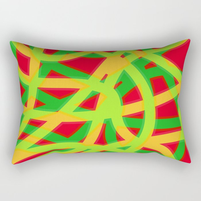 lively lines Rectangular Pillow