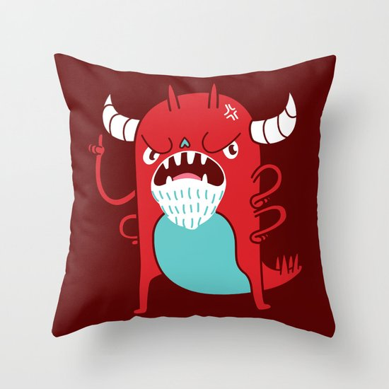 Monster Nagging Throw Pillow