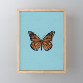 Monarch Butterfly Painting Framed Mini Art Print